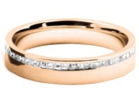 diamond set wedding rings gold