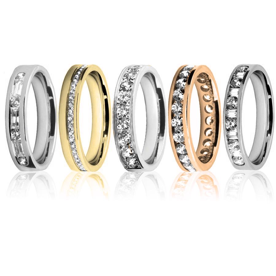 diamond channel set rings