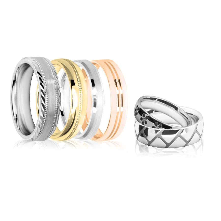 diamond cut wedding rings