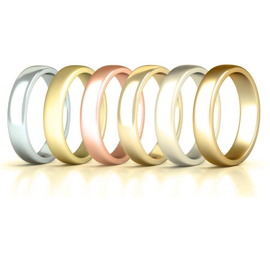 British Made Plain bands wedding rings