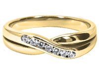 shaped wedding rings gold