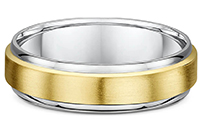 two tone wedding rings gold
