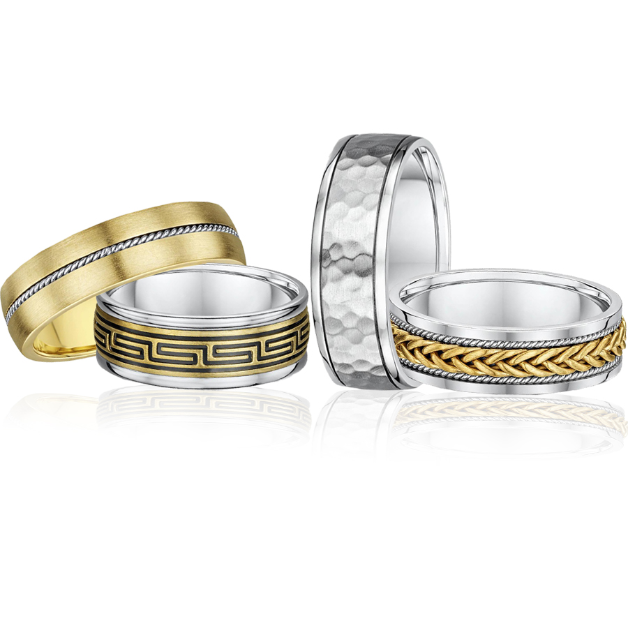 fancy gold wedding rings
